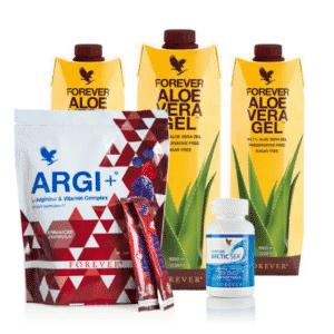 3x Aloe Vera, 1x Artic Sea, 1x Argi+